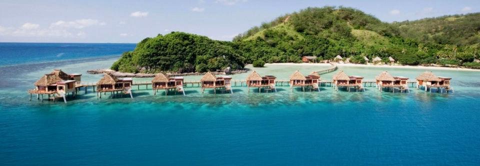 Likuliku lagoon resort fiji overwater bungalow 7 nights Overwater bungalows fiji