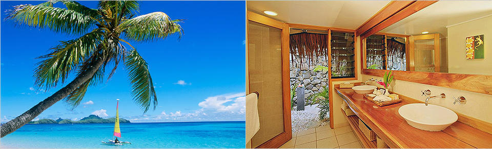 Tokoriki island resort beachfront pool bure - Resorts in diveagar with swimming pool ...