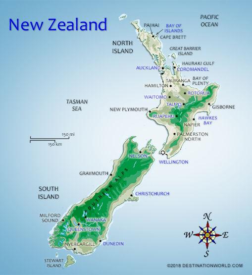 Christchurch World Map.New Zealand Vacations Map Of New Zealand Destination World