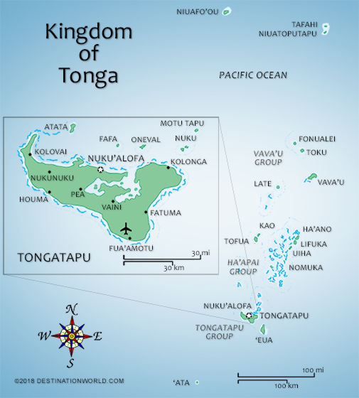 Tonga Vacations by Destination World